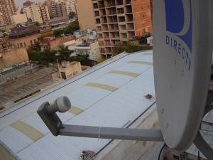 Vista de la antena